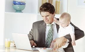 You can have a baby in one arm, a full bowl of cereal or a laptop. Choose two. Then lose the tie.