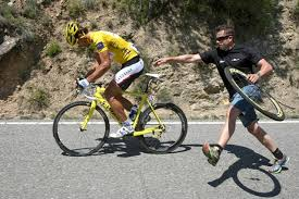 Lagging behind. Lance Armstrong stopped at nothing to nobble his opponents.